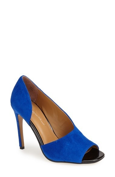REPORT Signature 'Oslo' Open Toe Half d'Orsay Pump (Women)