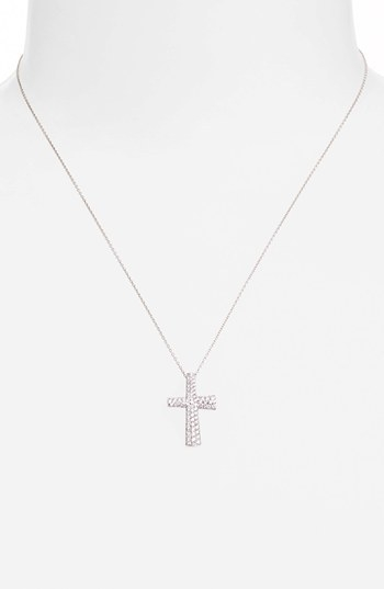 Roberto Coin 'Scalare' Diamond Cross Pendant Necklace