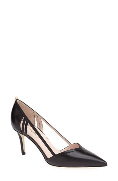 SJP 'Priscilla' Pointy Toe D'Orsay Leather Pump (Women) (Nordstrom Exclusive)