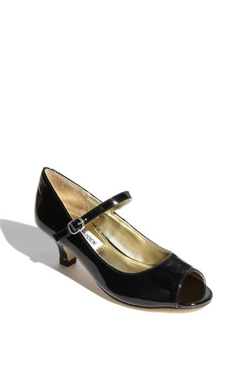 Steve Madden 'Babyy' Peep Toe Pump (Little Kid & Big Kid)