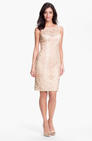 Sue Wong Embellished Lace Tulle Dress