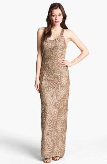 Sue Wong Embellished Sleeveless Gown