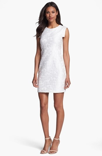 Suzi Chin for Maggy Boutique Jacquard Sheath Dress