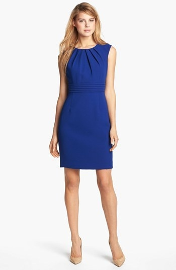 Tahari by Arthur S. Levine Sleeveless Crepe Sheath Dress