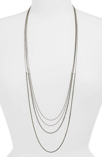 Tasha Long Multistrand Necklace