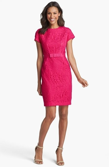 Taylor Dresses Cap Sleeve Lace Dress