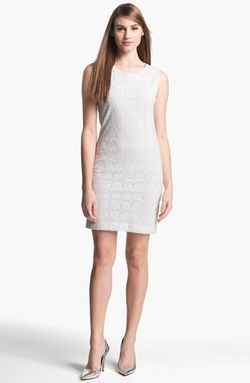 Taylor Dresses Embroidered Mesh Shift Dress