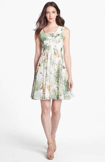 Ted Baker London 'Liano - Dancing Leaves' Print A-Line Dress