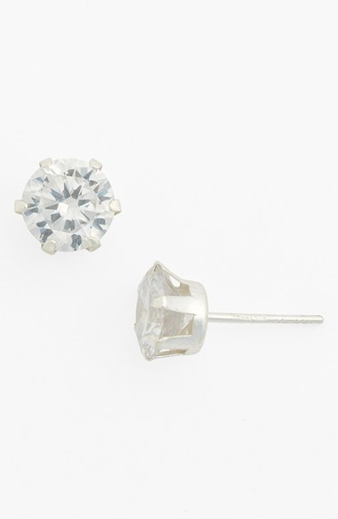 Tomas Cubic Zirconia & Sterling Silver Stud Earrings (Juniors)