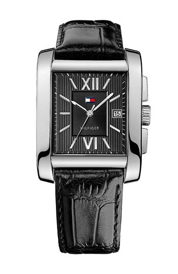 Tommy Hilfiger Square Leather Strap Watch, 36mm x 47mm