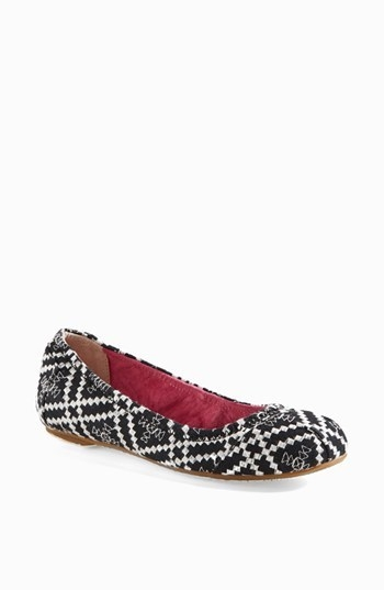 TOMS Embroidered Ballet Flat