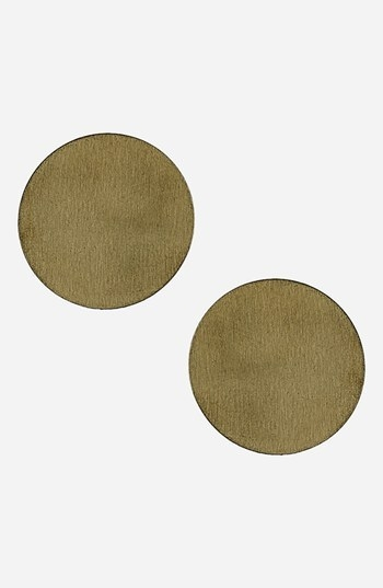 Topshop Small Goldtone Disc Earrings
