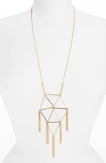 Topshop Tube Tassel Necklace