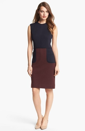 Tory Burch 'Brianna' Colorblock Sheath Dress
