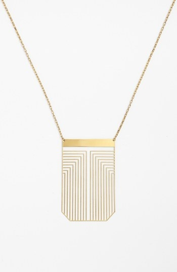 Tory Burch 'Frete' Long Pendant Necklace