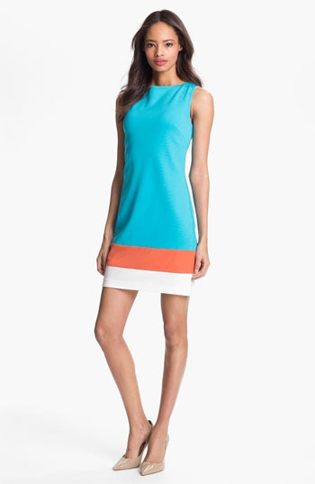 Trina Turk 'Cheer' Colorblock Shift Dress