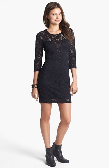 Trixxi Cutout Lace Body-Con Dress (Juniors) (Online Only)