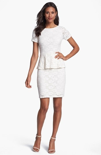 Velvet by Graham & Spencer Lace Peplum Dress