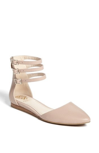 Vince Camuto 'Wiji' Ankle Strap D'Orsay Flat