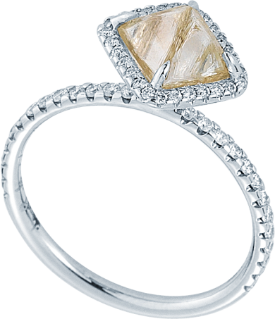 Covet Rough Diamond Engagement Ring