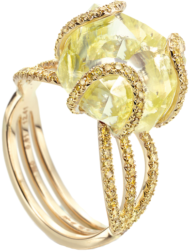 Dieu du Soleil Exclusive Solitaire Ring
