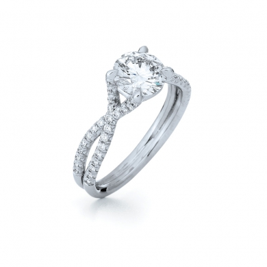 The Fidelity Pave Ring in Platinum