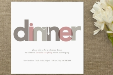 dinner party rehearsal dinner invitations by jody
