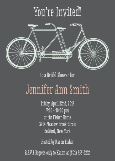 Bridal shower invitations bridal shower invitations bicycle bridal shower invitations bicycle filmwisefo