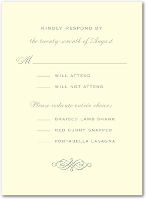 Simple Love Letterpress Wedding Response Cards LP Charcoal