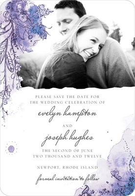 Painterly Passion Save The Date Magnets Periwinkle
