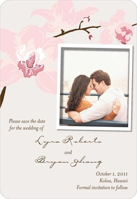 Artistic Orchids Save The Date Magnets Blush