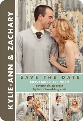 Chic Couple Save The Date Magnets Basil