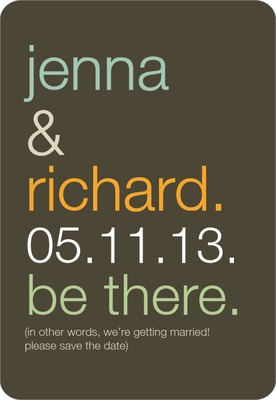 Be There Save The Date Magnets Dark Gray
