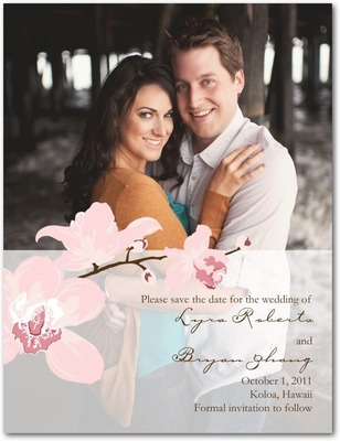 Artistic Orchids Save The Date Postcards Blush