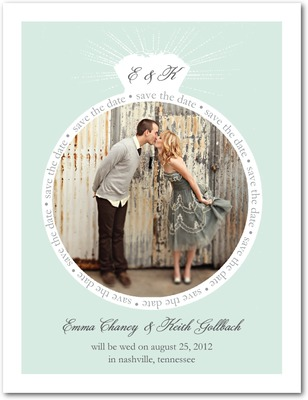 Stunning Ring Save The Date Postcards Aloe