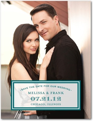 Sealed Style Save The Date Postcards Wave