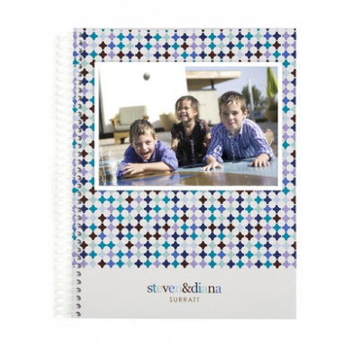 Photo Trellis Monthly Notebook Notebooks Blue