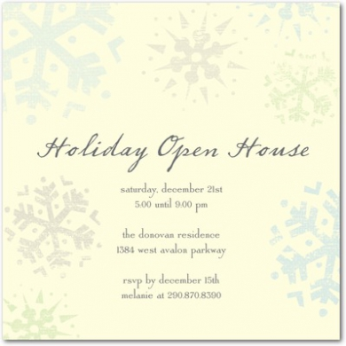 Sparkling Snowflakes Holiday Party Invitations Chill