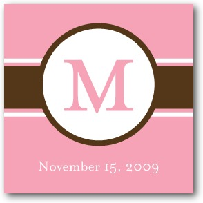 Sweet Monogram: Princess Personalized Gift Tag Stickers Princess