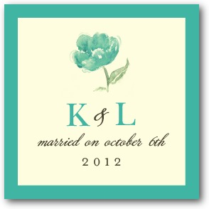 Blooming Watercolor Personalized Gift Tag Stickers Bay