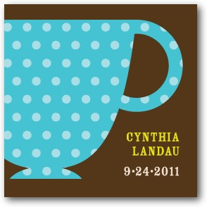 Charming Teacups Personalized gift tag stickers Chocolate