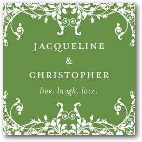 Elegant Eternity Personalized Gift Tag Stickers Emerald