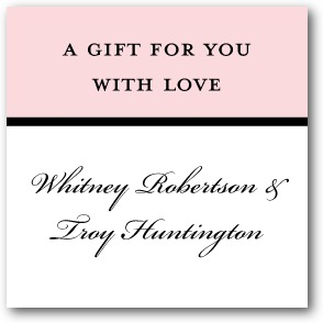 Fresh Tradition Personalized Gift Tag Stickers Blush