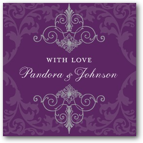 Regal Refinement Personalized Gift Tag Stickers Amethyst