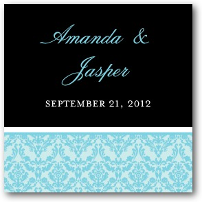 Exquisite Frame Personalized Gift Tag Stickers Teal