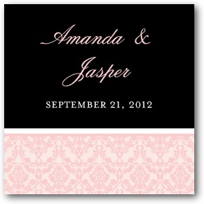 Exquisite Frame Personalized Gift Tag Stickers Soft Pink