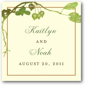 Rustic Print Personalized Gift Tag Stickers Evergreen