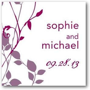 Natural Pair Personalized Gift Tag Stickers Deep Plum