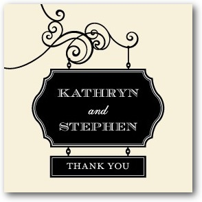Wedding Sign Personalized Gift Tag Stickers Black