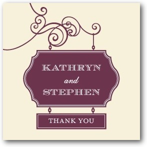 Wedding Sign Personalized Gift Tag Stickers Chambord